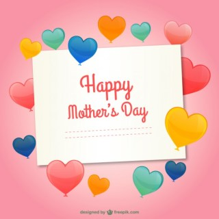 Template for Mothers Day Free Vector