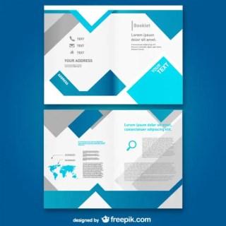 Template Mock-Up Brochure Free Vector