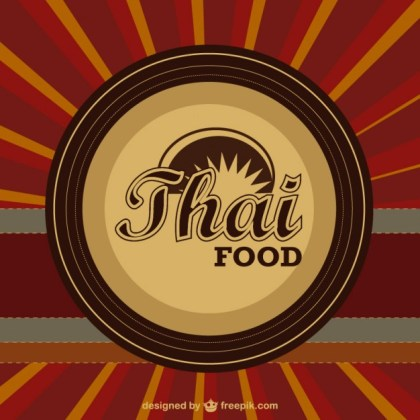Thai Food Template Free Vector