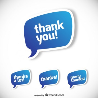 Thank You Speech Bubbles Illustration