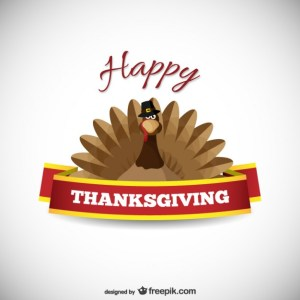 Thanksgiving Card with Turkey Free Vector