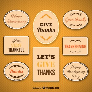 Thanksgiving Labels Pack Free Vector