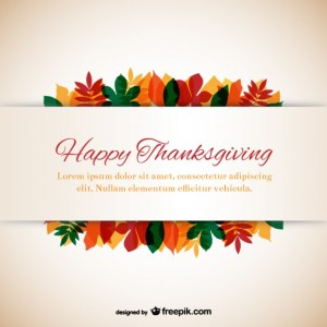 Thanksgiving Template with Leaves Free Vector