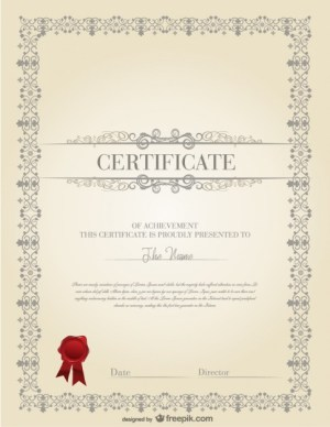The Certificate Template Design Material Free Vector