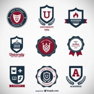 The Classic Label Stickers Free Vector