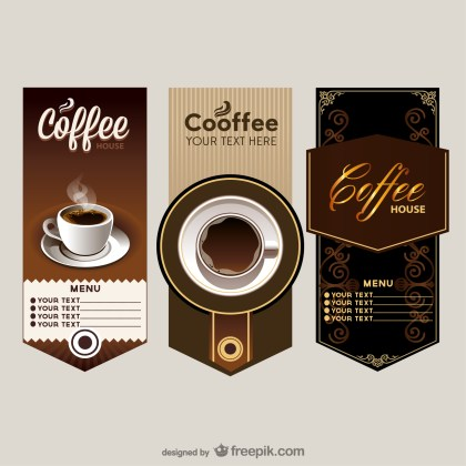 The Elegant Cafe Menu Price Table Free Vector