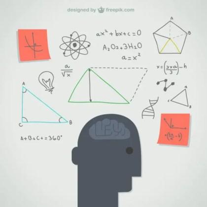 Thinking Mind Illustration Free Vector