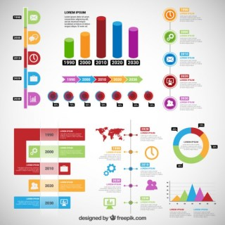 Timeline Infographic in Colorful Style Free Vector