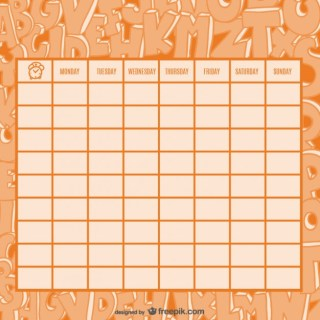 Timetable of Nice Drawing Letters Free Vector