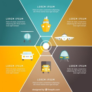 Transport Infographic Free Vector