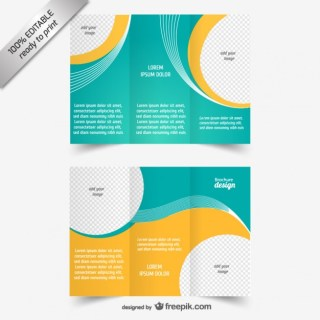 Tri-Fold Brochure Template Free Vector