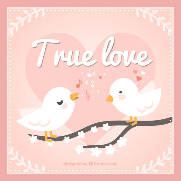 True Love Birds Free Vector