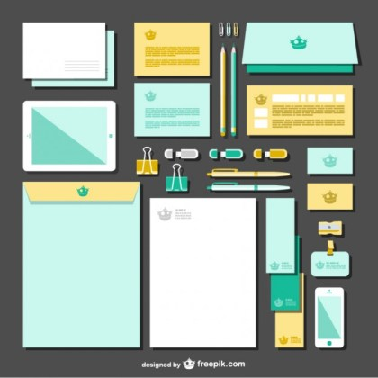 Two Colors Branding Pack Free Vector