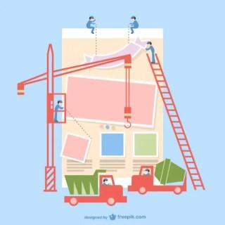 Under Construction App Interface Free Vector
