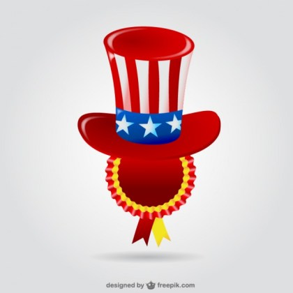 United States Hat Badge Free Vector