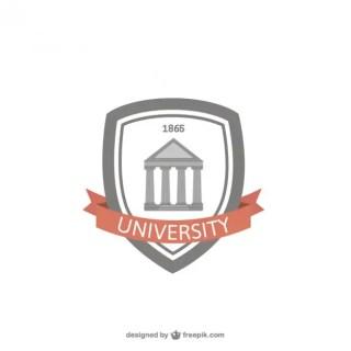 University Badge Free Vector