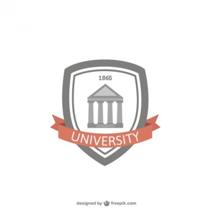 University Badge Free Vector