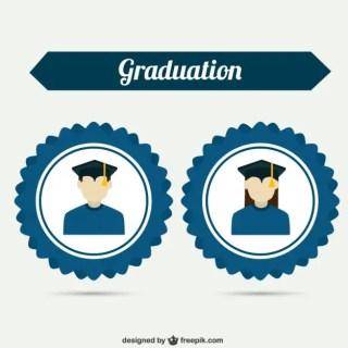 University Badges Free Vector