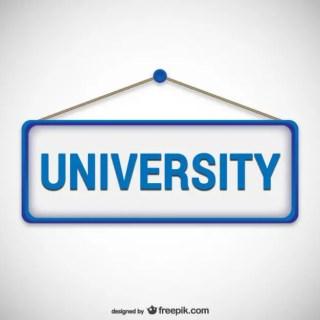 University Signboard Free Vector
