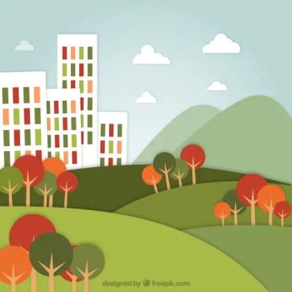 Urban Landscape Free Vector