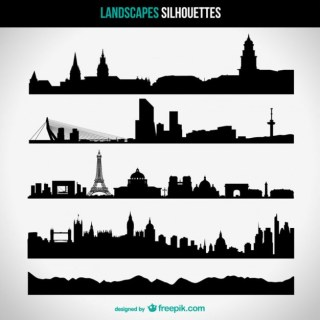 Urban Skyline Free Vector