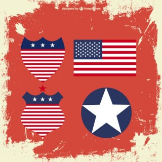 Usa Elements Free Vector