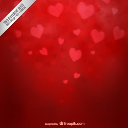 Valentine Background with Hearts Free Vector