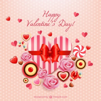 Valentine Card Free Vector