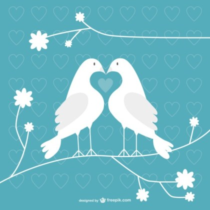 Valentine Doves Free Vector