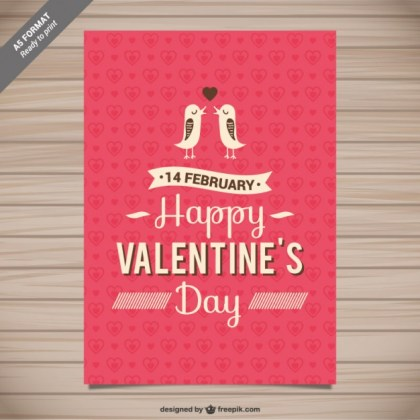 Valentine Greeting Card Free Vector