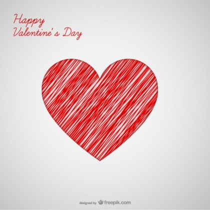 Valentine Heart Greeting Card Free Vector