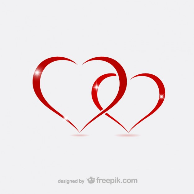 Valentine Hearts Outlines Free Vector