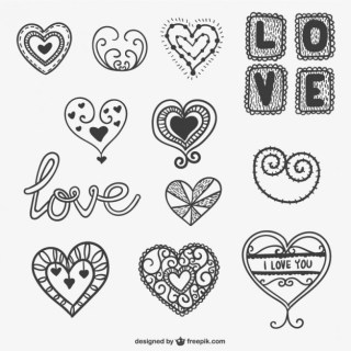 Valentine Ornaments Free Vector