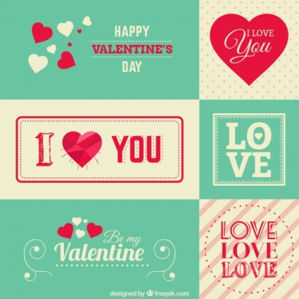 Valentine Stationery Greetings Free Vector