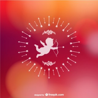 Valentines Cupid Background Free Vector