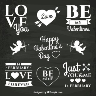Valentines Day Chalk Lettering Free Vector