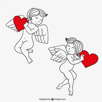Valentines Day Cupids Free Vector
