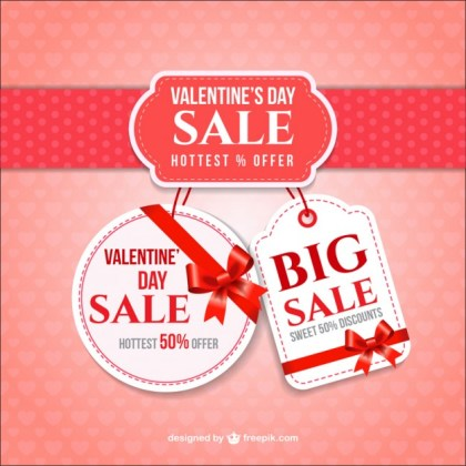 Valentines Day Sale Free Vector