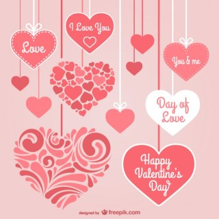 Valentines Day Stationery Hearts Free Vector