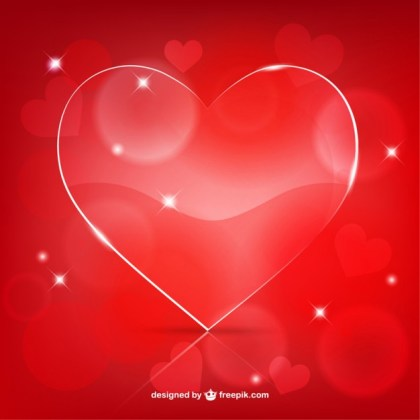 Valentines Glossy Heart Free Vector
