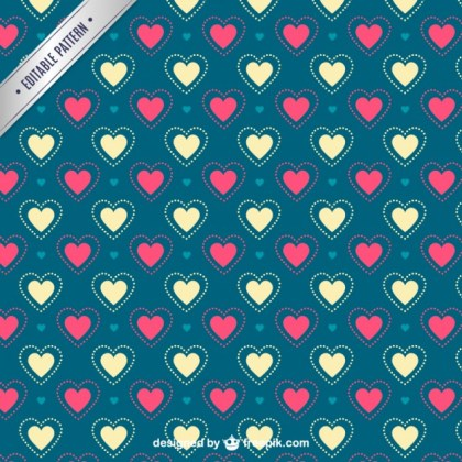 Valentines Hearts Pattern Free Vector