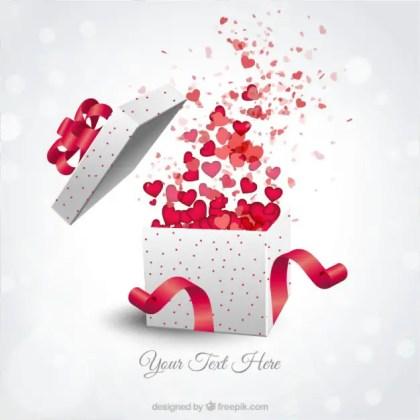 Valentines Present Box Free Vector