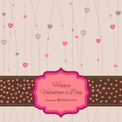 Valentines Stationery Card Free Vector