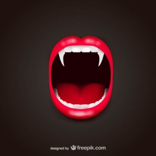 Vampire Mouth Free Vector