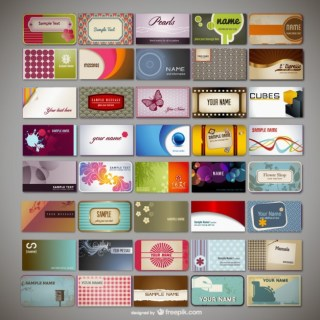 Variety of Business Card Template Material Free Vector