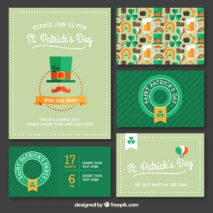 Variety of St Patrick Party Invitations Free Vector