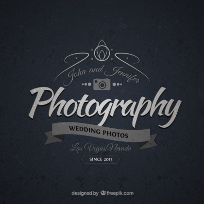 Vintage Badge for Photography Business Free Vector