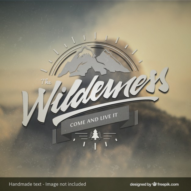 Vintage Badge with Mountains Free Vector