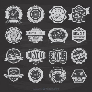 Vintage Bicycle Stickers Free Vector