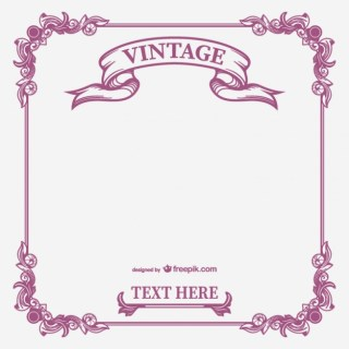 Vintage Calligraphic Frame Free Vector